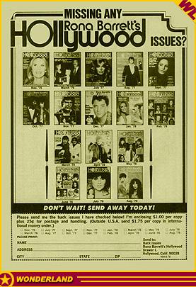 Rona Barrett's Hollywood Super Special Summer 1975, Warren Beatty, Cher